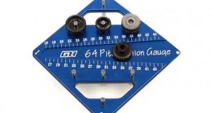 GH Hobby Aluminum 48P/64P Pinion Gauge/Camber Gauge