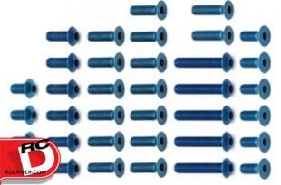 Team Associated B5 and B5M Blue Aluminum Lightweight Screw Sets