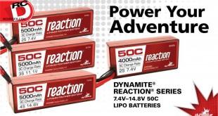 Dynamite - 50C Reaction LiPo Battery Packs