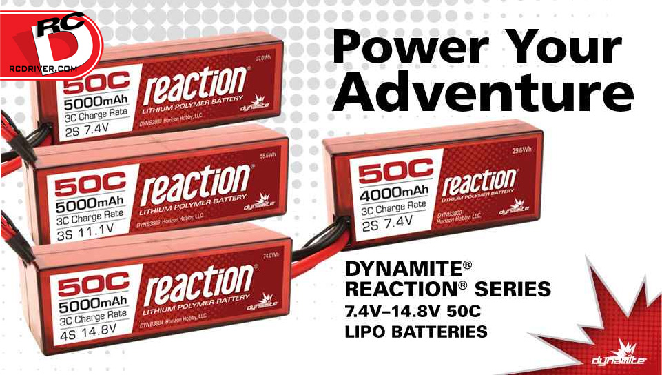 Dynamite 50C Reaction LiPo Battery Packs