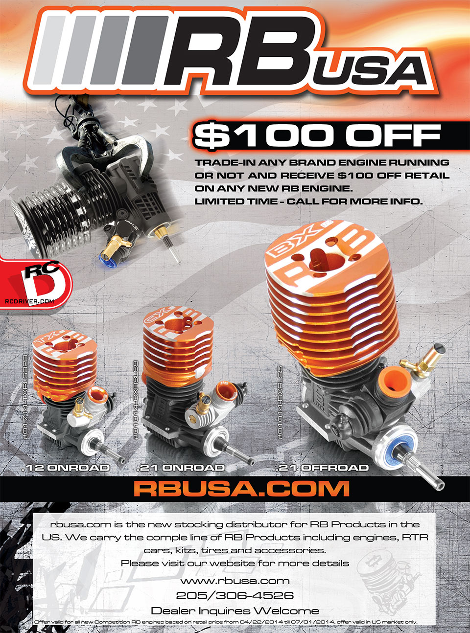 RB USA Offers $100 For Trade In Engines