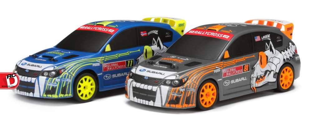 Micro RS4 Bucky Lasek and Sverre Isachsen's Global Rallycross Subaru WRX STI