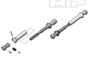 "MIP - Spline CVD Center Drive Kit for the Axial SCX10 with 12.3"" Wheelbase"