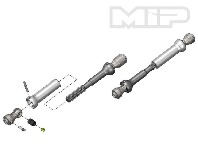 """MIP - Spline CVD Center Drive Kit for the Axial SCX10 with 12.3"""" Wheelbase"""