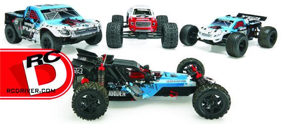 ARRMA 2014 range of updated 2WD MEGA brushed all-terrain RC vehicles