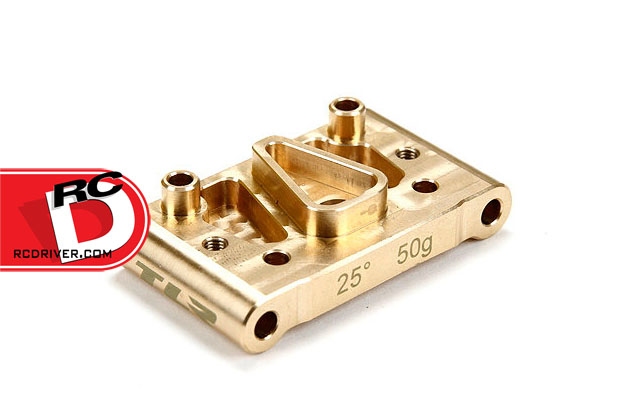 TLR 25 Degree Brass Front Pivot Block for the 22 and 22.2.0 Series of Vehicles