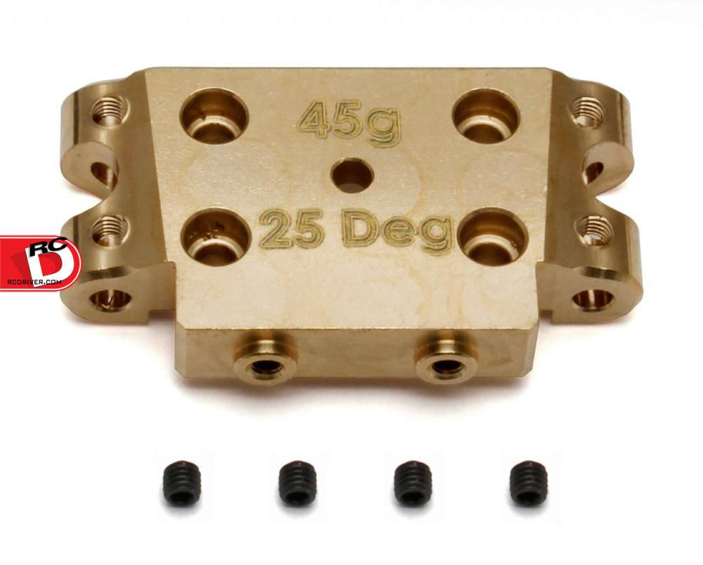 Team Associated Factory Team Brass Bulkheads for the B5 and B5M