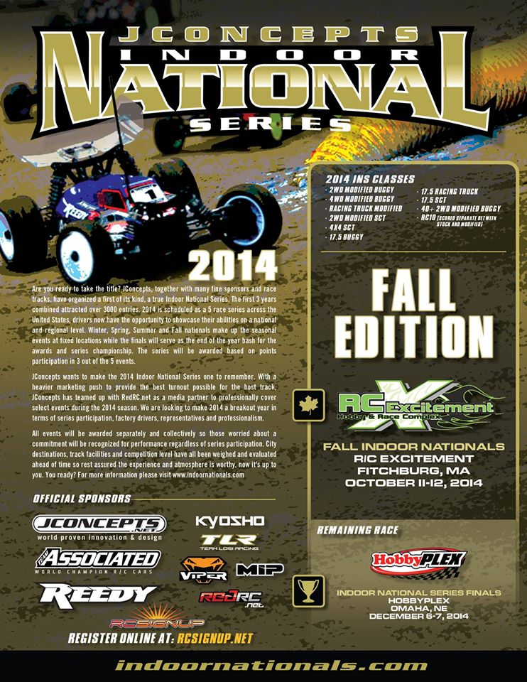 JConcepts Fall Indoor Nationals at RC Excitement October 10 – 12