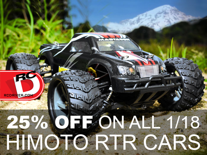 SALE!  25% Off On All 1/18 Himoto RTR Cars at AsiaTees