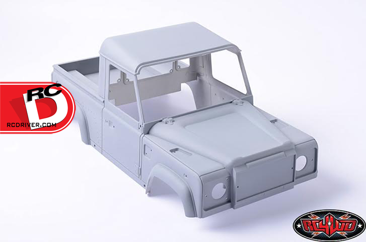 Land Rover Defender D90 Pick Up Truck Hard Plastic Body Kit from RC4wd