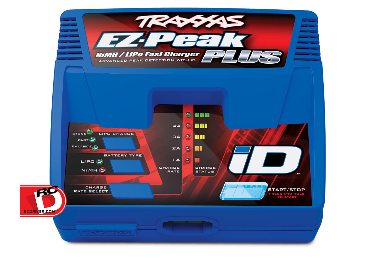 Traxxas EZ-Peak Plus 4-amp NiMH/LiPo charger with iD Auto Battery Identification
