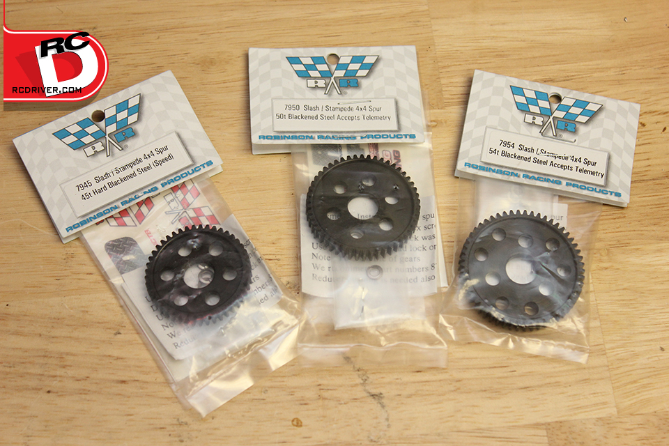 Robinson Racing Hard Blackened Slash or Stampede 4×4 Spur Gear Install