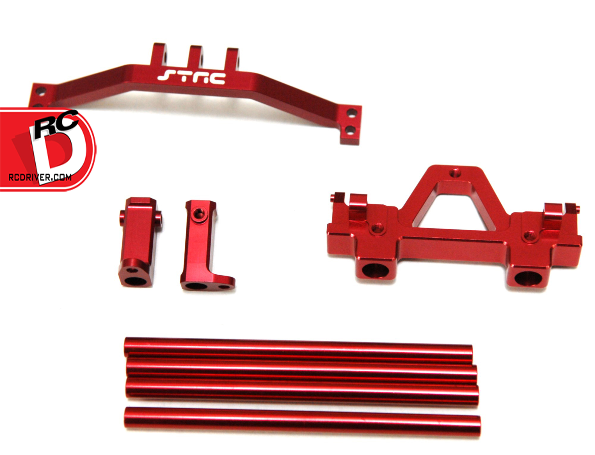 STRC Limited Edition Orange and Red CNC Machined Parts for the Axial Yeti and SCX10
