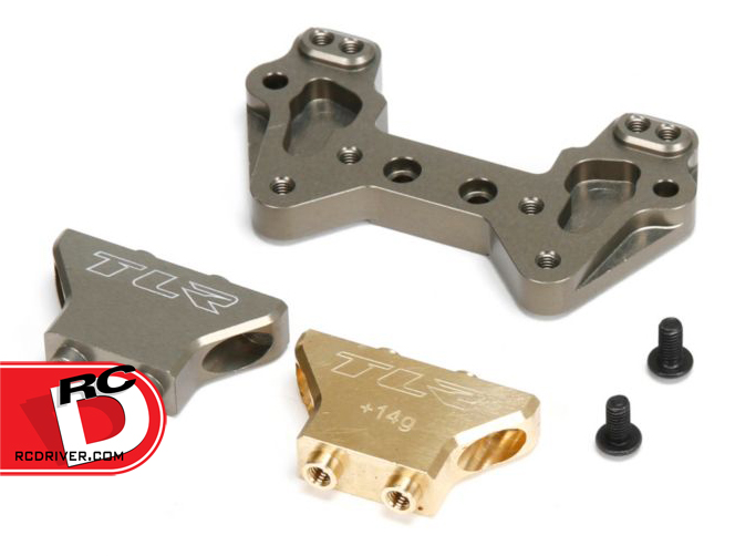 Aluminum Mid Motor Rear Camber Plate with Brass and Aluminum Tower for 22 Series Vehicles