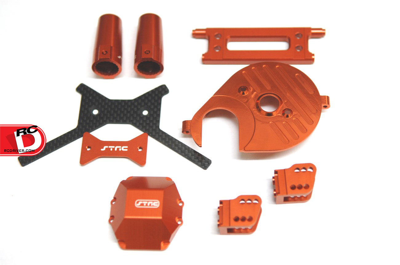 New Orange Anodized Parts For The Axial Yeti and Wraith from STRC