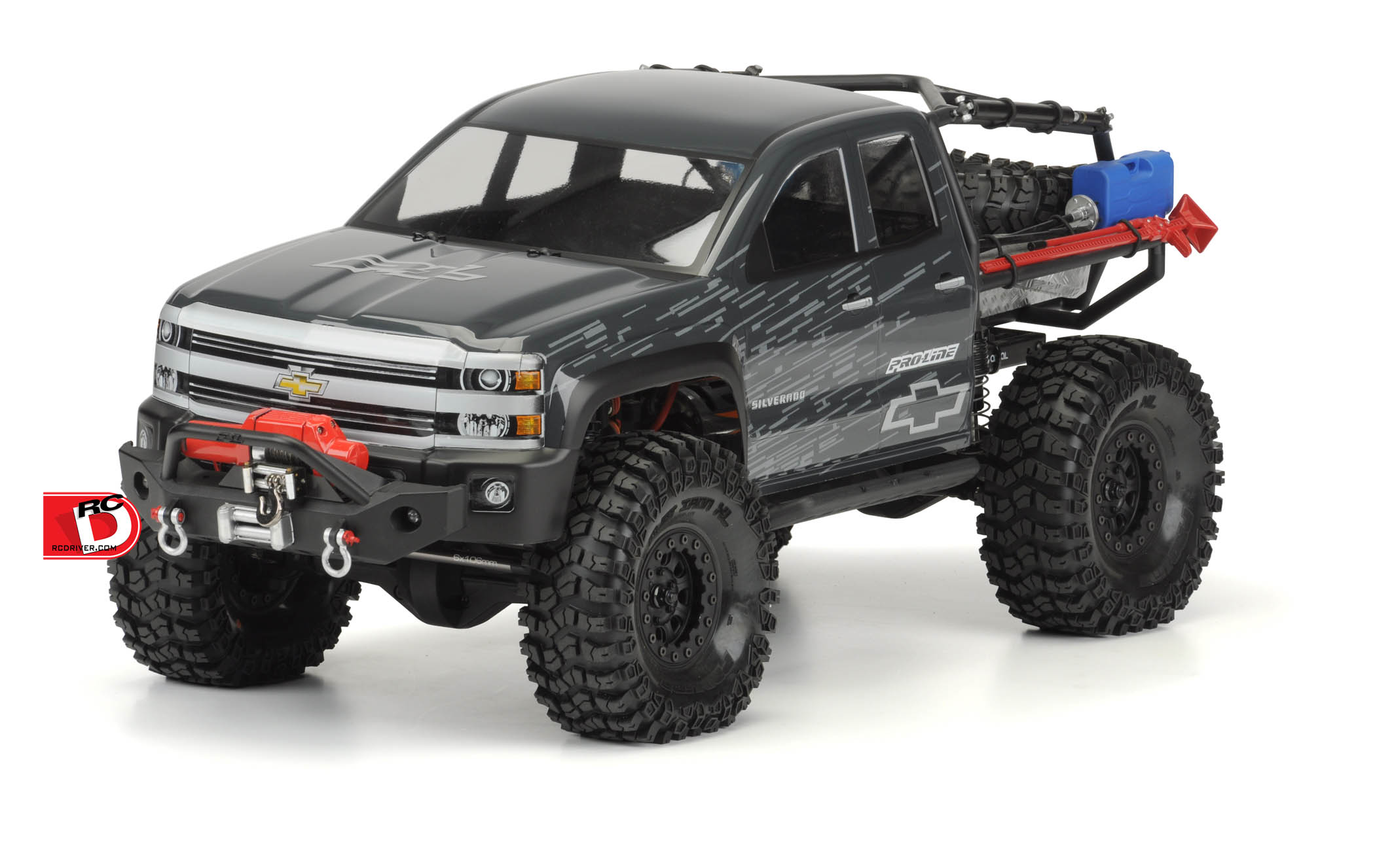 Clear Chevy Silverado Body for the SCX10 Trail Honcho 12.3""