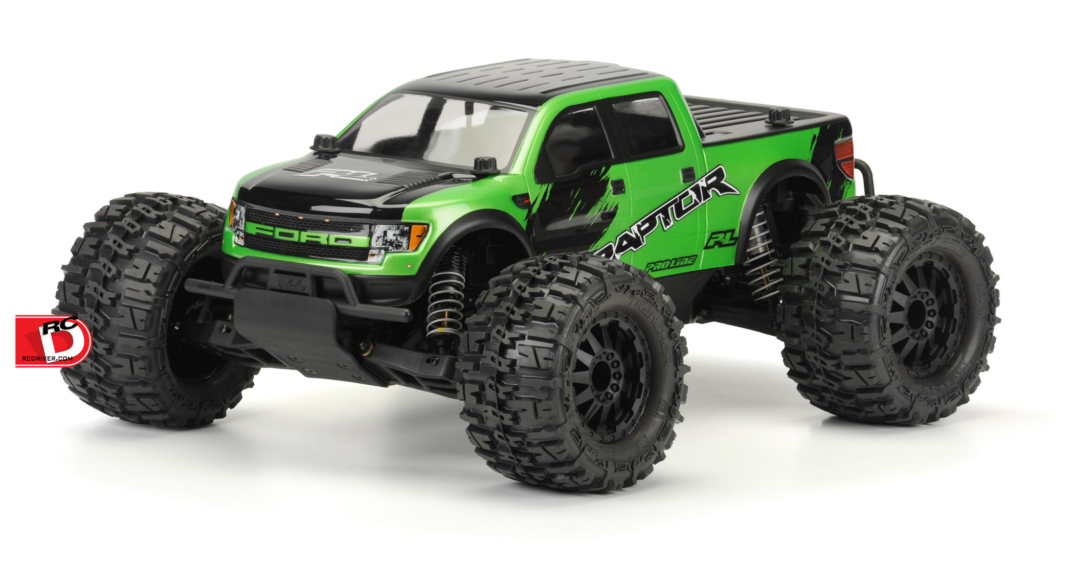 Chevy Silverado and Ford F-150 SVT Raptor Clear Bodies for the Pro-MT