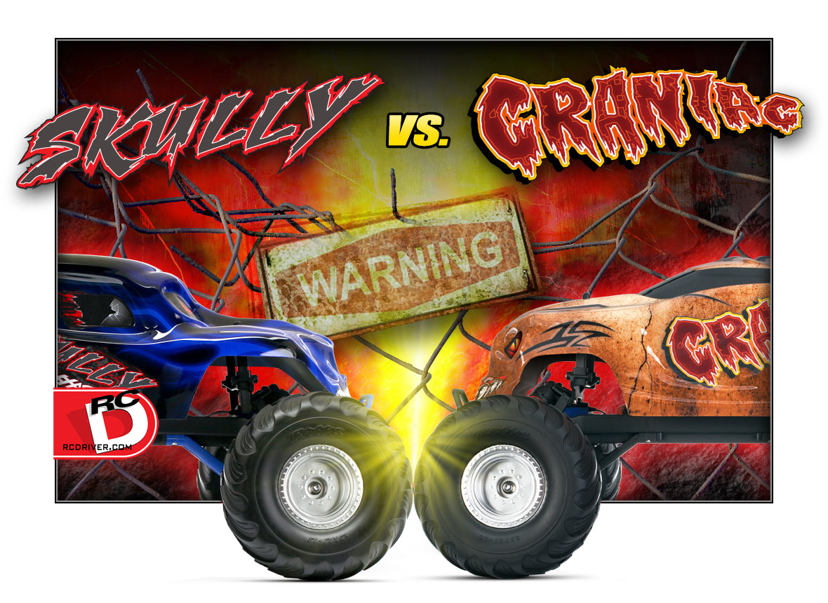 Skully and Craniac 2wd Monster Trucks