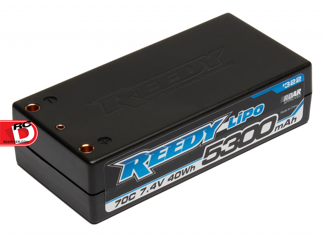 Reedy 5300mAh 70C 7.4V Shorty Competition LiPo Battery