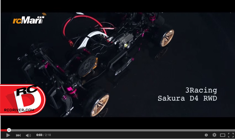 First Exclusive Action Video of 3Racing Sakura D4 RWD and AWD from rcMart