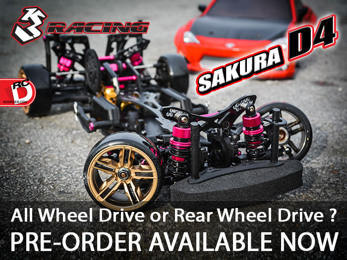 Pre-Order the 3Racing Sakura D4 at AsiaTees Now!