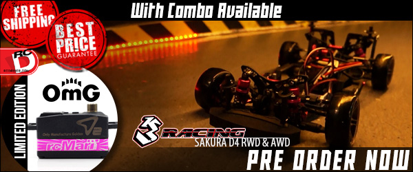 Get A Limited Edition OMG Servo With The 3Racing Sakura D4 Special Combo