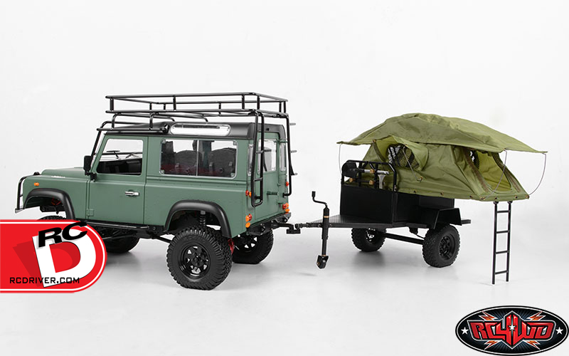 Bivouac 1/10 M.O.A.B Camping Trailer with Tent at RC4wd