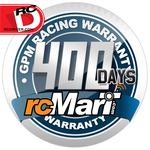 rcMart exclusive! GPM 400 Day Warranty! Free exchange for Defective parts.