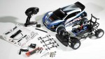 "What's in the box? Traxxas delivers the Rally with a 7-cell battery pack, charger, tools, pre-load spacers, decals and more. Just add 4 ""AA"" batteries to the TQi transmitter and you are ready for some rally action!"