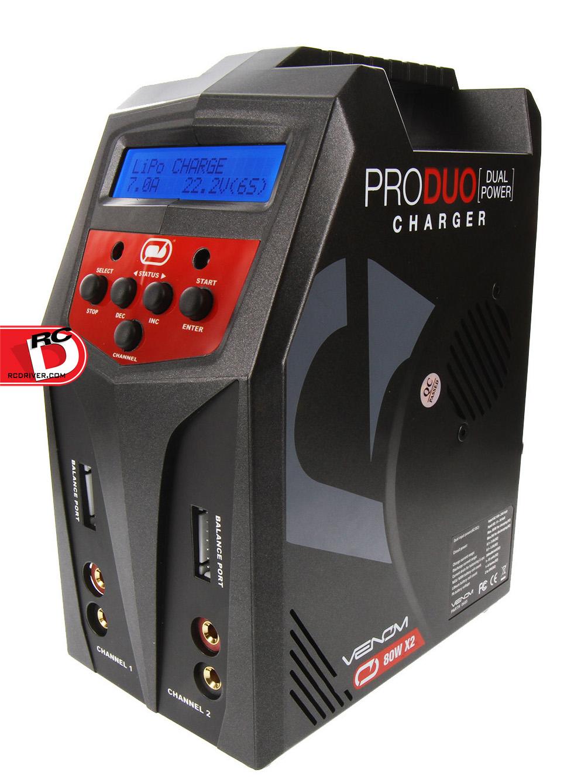 Venom Pro Duo 80w X2 Dual AC/DC 7A Balance Charger