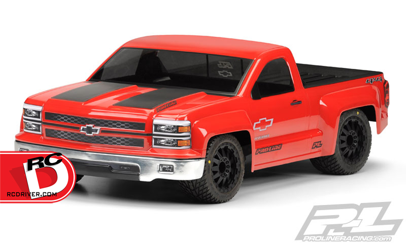 Chevy Silverado Pro-Touring Clear Body for Short Course Trucks by Pro-Line