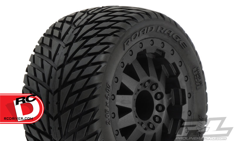 Pro-Line Road Rage 2.8″ (Traxxas Style Bead) Mounted All Terrain Tires