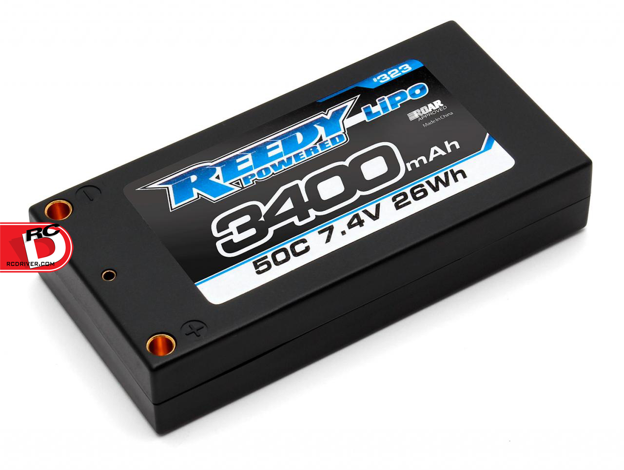 Reedy 3400mAh 50C 7.4V LP Shorty Competition LiPo Battery