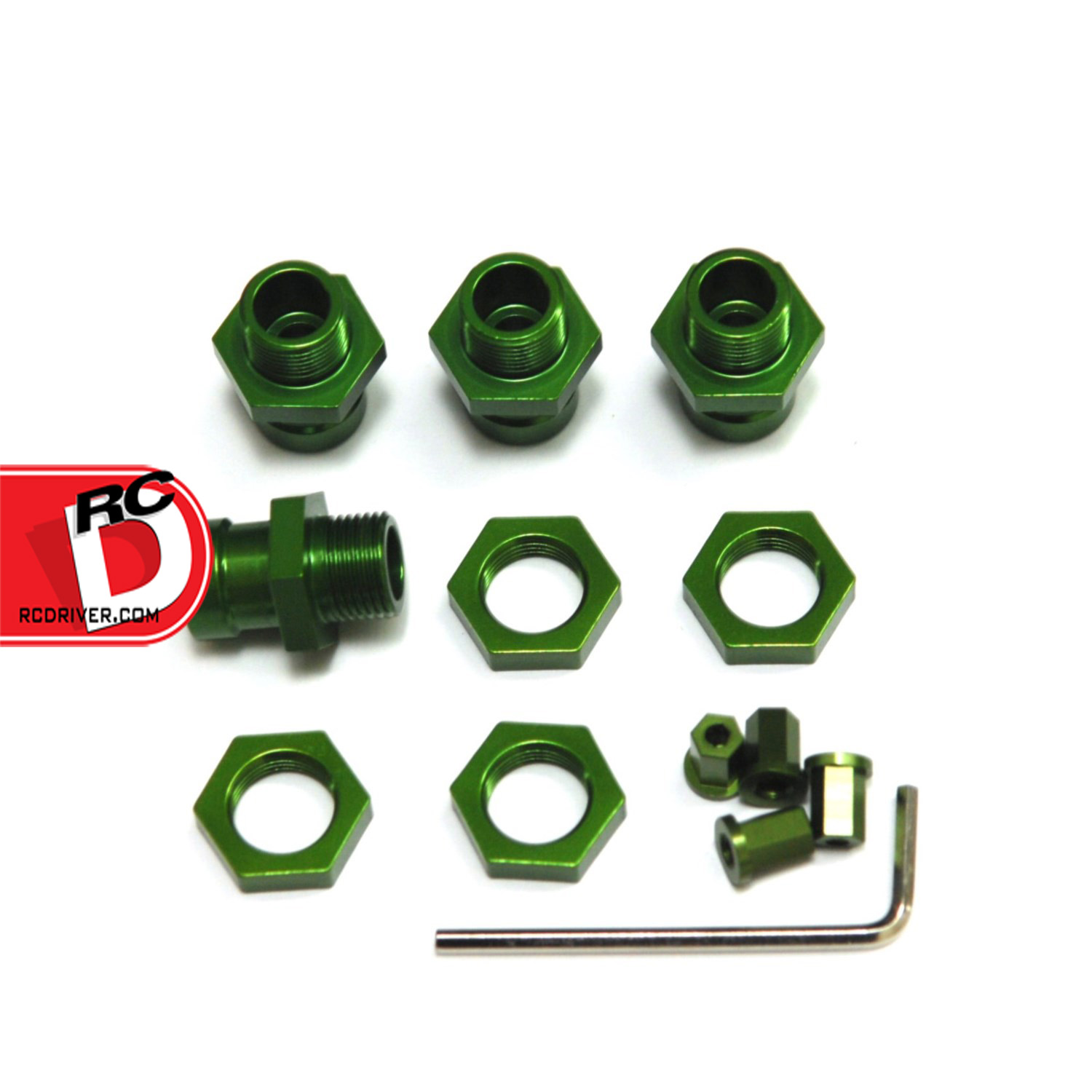 STRC CNC Machined Aluminum 17mm Hex Adapter Conversion Kit for Axial Wraith/Deadbolt