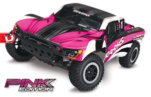 Traxxas - Pink and Courtney Force Editions of the Slash, Stampede, Bandit and Rustler