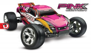 Traxxas - Pink and Courtney Force Editions of the Slash, Stampede, Bandit and Rustler_4 copy
