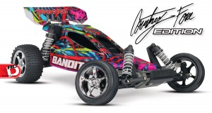 Traxxas - Pink and Courtney Force Editions of the Slash, Stampede, Bandit and Rustler_5 copy