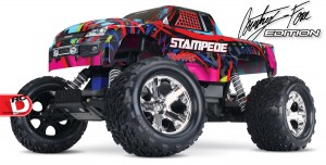 Traxxas - Pink and Courtney Force Editions of the Slash, Stampede, Bandit and Rustler_6 copy