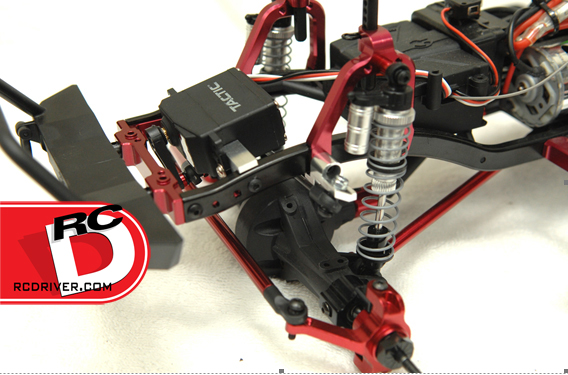 CNC Machined Aluminum Off-Axle Servo Mount/Panhard combo  Kit for Axial SCX10 from STRC