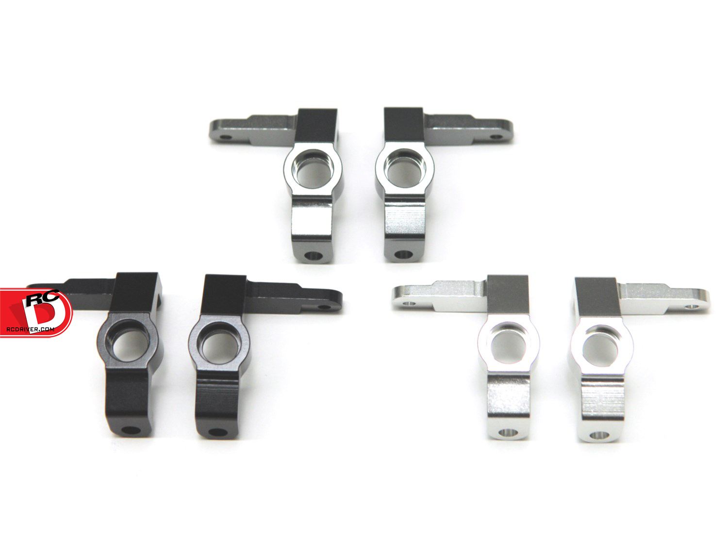 CNC Machined Aluminum Front Steering Knuckles for Vaterra Ascender/Bronco Scale Trucks