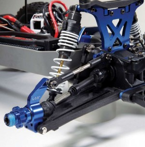 The XO-1 rear driveshaft set is ideal for taking the abuse the Team Tekin power system can dish out when the 4-Pede pulls wheelies. XO-1 rear hubs and axle carriers feature oversized bearings to stand up to the high RPMs.