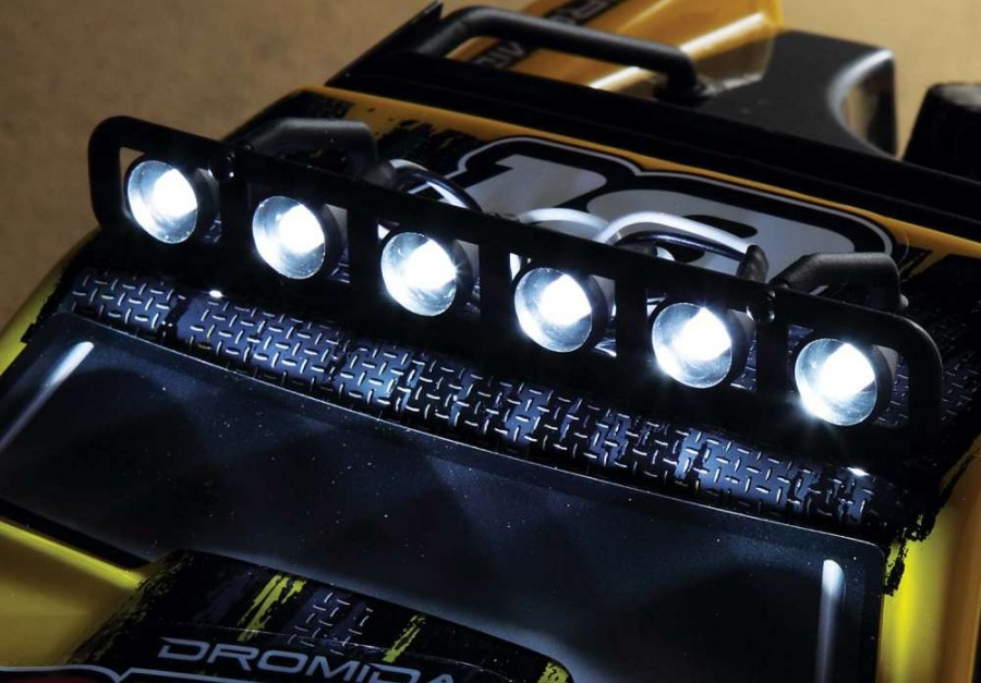 Just because the sun has gone down it does not mean the fun needs to end with the DT4.18. The 6 included LED lights are con- siderably brighter than you might think.