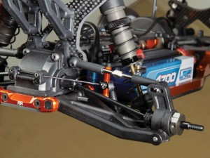 The rear of the TM2 gets the same big bore shock treatment in addition to the same ball cups as up front, but Team C also included a sway bar for the rear to keep the balance of this buggy on point.