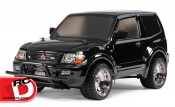 Mitsubishi Pajero Custom Lowrider Black Special with Painted Body from Tamiya
