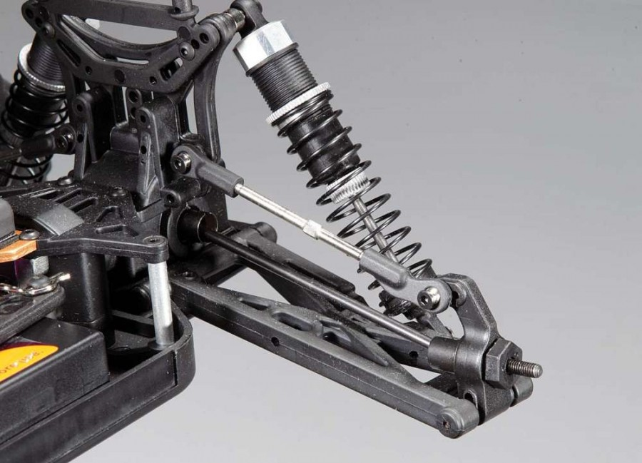 Both front and rear shocks are huge and soak up large jumps with ease.