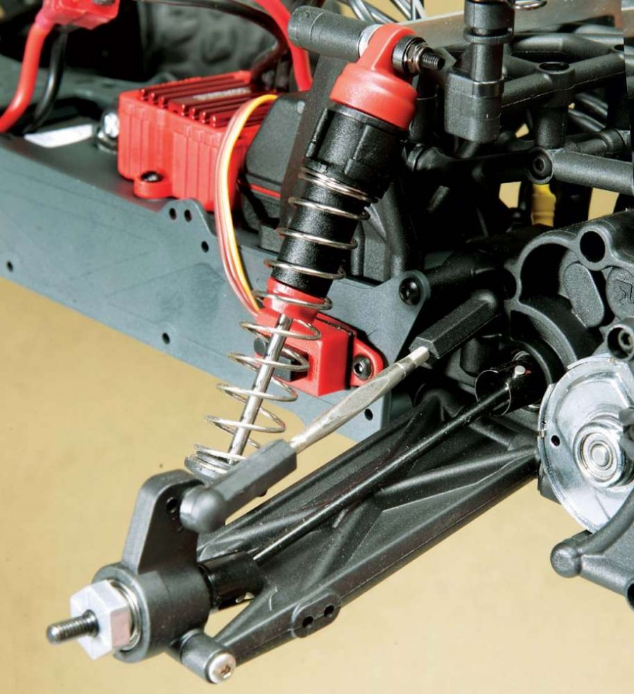 At each corner sits tough oil- filled shocks to keep the ride smooth and controllable.