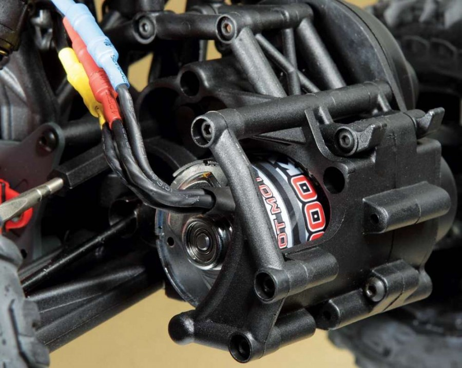 The Arrma BLS 4000Kv brushless motor is protected behind a plastic guard.