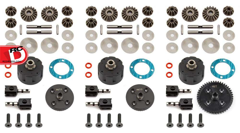 Team Associated - V2 Differential Sets for the RC8B3 and RC8B3e copy