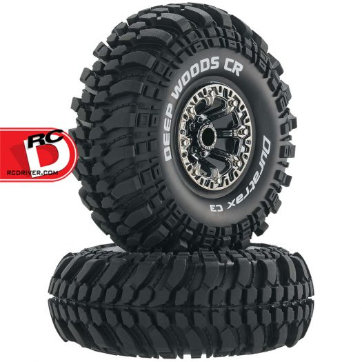 Duratrax - Deep Woods CR C3 Compound Mounted 2.2 Crawler Tires on Black Chrome Wheels