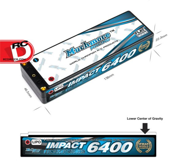 Muchmore Racing - IMPACT Linear LCG FD2 6400mAh-110C LiPo Battery _1 copy
